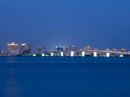 You'll never see a more peaceful sight than the Ringling Bridge at night! This gorgeous combination of art and engineering connects downtown Sarasota with Bird Key, St. Armond's Circle, Long Boat Key and over a dozen beach fronts!